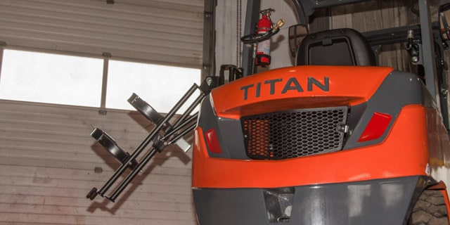 Titan Forklifts LPG Bracket Down