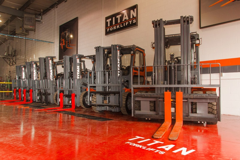 Titan Forklifts Warranty Display Image