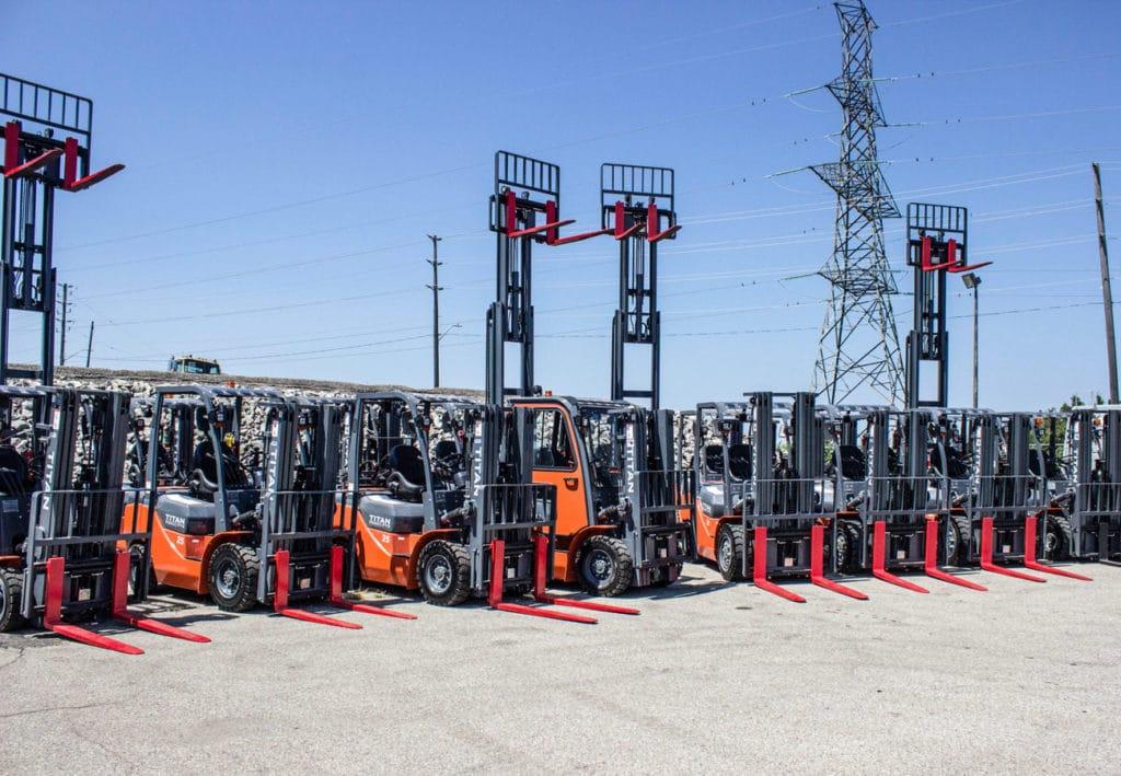 Titan Forklift Outside Group Shots