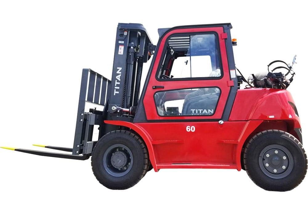 Titan Forklifts red specialty forklift